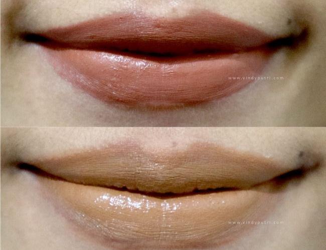 Bibirnya Vindy Putri. Penggunaan lip matte yang tipis begini menjadi salah satu tips makeup natural yang patut dicoba